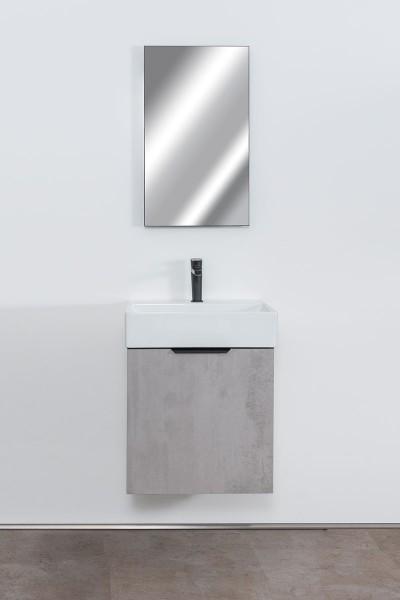 Badmöbel Set Margarete [51 cm inklusive Spiegel mit LED Beleuchtung]