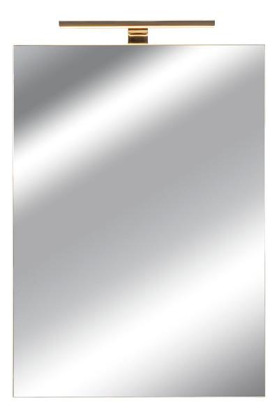 Spiegelschrank Bad, Breite: 50 cm, Tür doppel verspiegelt inkl. LED-Leuchte Chrom glanz