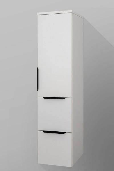 Badezimmer Midi-Schrank, 2 Auszüge, 1 Tür, Seitenschrank H/B/T [128,1/30/37 cm]